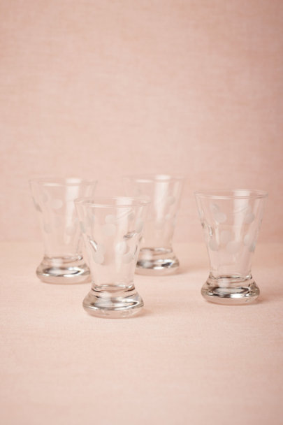 clear Droplets Shot Glasses (4) | BHLDN