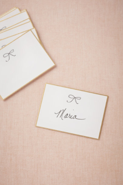 Sugar Paper gold Bow Tie Place Cards (10) | BHLDN