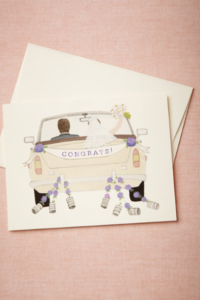 lilac Congrats! Card | BHLDN