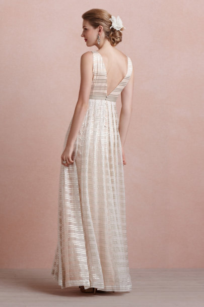 blush Golden Strata Dress | BHLDN