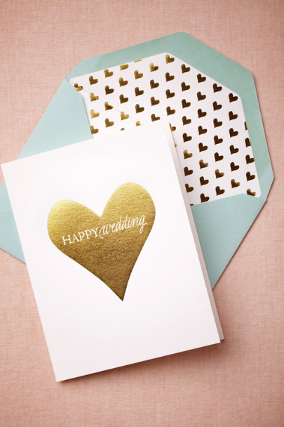 Sugar Paper gold Happy Wedding Card | BHLDN