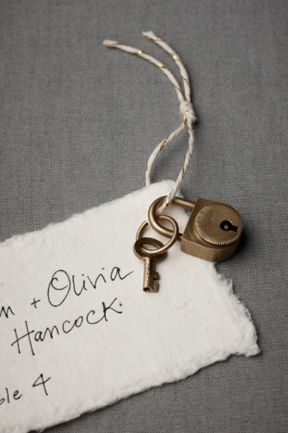 gold Mini Lock and Key Sets (5) | BHLDN