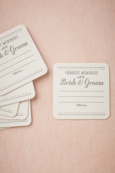 grey Fondest Memories Coasters (8) | BHLDN