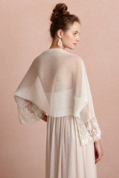 ivory Translucent Cocoon Shawl | BHLDN