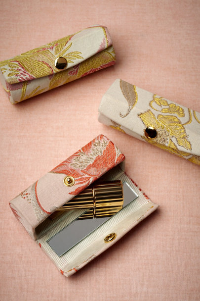pink/coral Art Nouveau Lipstick Cases | BHLDN