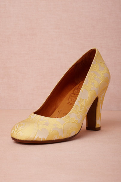 Chie Mihara yellow Citrine Pumps | BHLDN