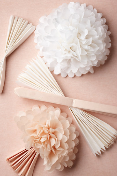 ivory Papered Pom Set (5) | BHLDN