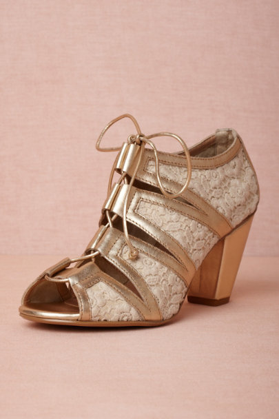 gold Betwixt Booties | BHLDN