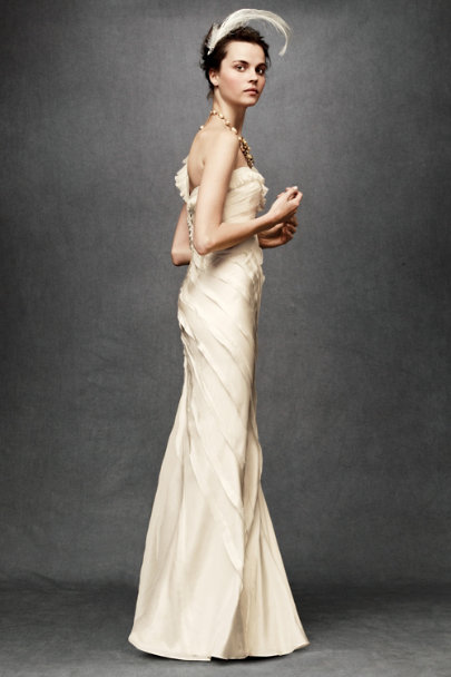 Ribboned Silk Gown