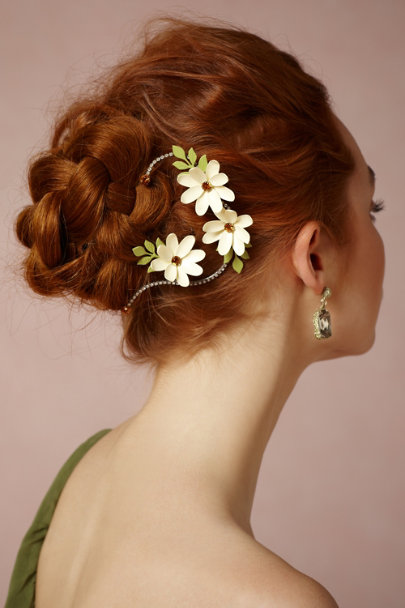 Debra Moreland yellow Twining Asters Hairpins (2) | BHLDN