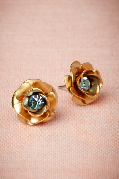Debra Moreland gold Golden Rose Earrings | BHLDN