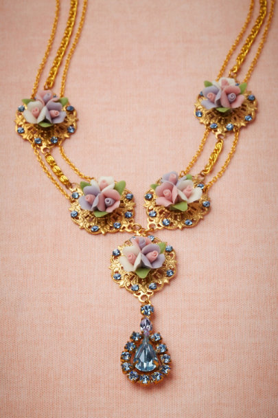 Debra Moreland blue Cottage Garden Necklace | BHLDN