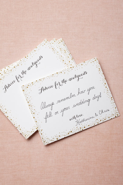 Sugar Paper gold Confetti Advice Cards (10) | BHLDN