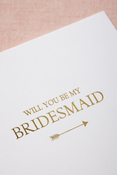 Sugar Paper gold To-The-Heart Bridesmaid Card | BHLDN