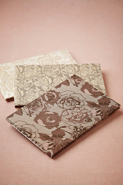 metallic roses Art Nouveau Guest Books | BHLDN
