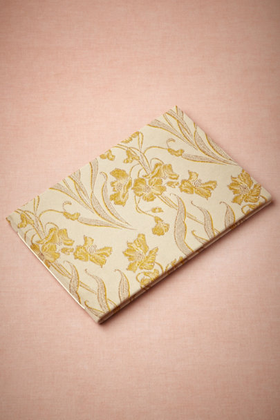 citron/ivory Art Nouveau Guest Books | BHLDN