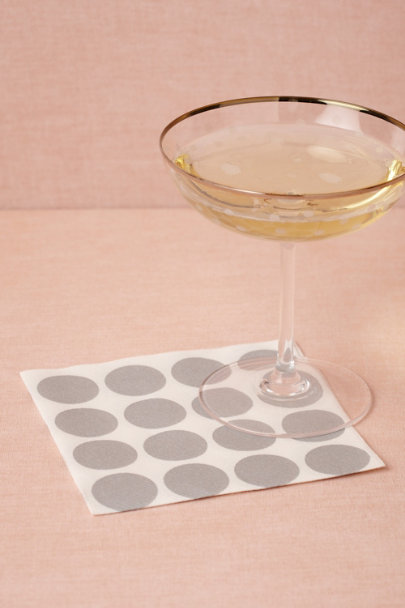 silver Circles-Meet-A-Square Napkins, Cocktail (20) | BHLDN