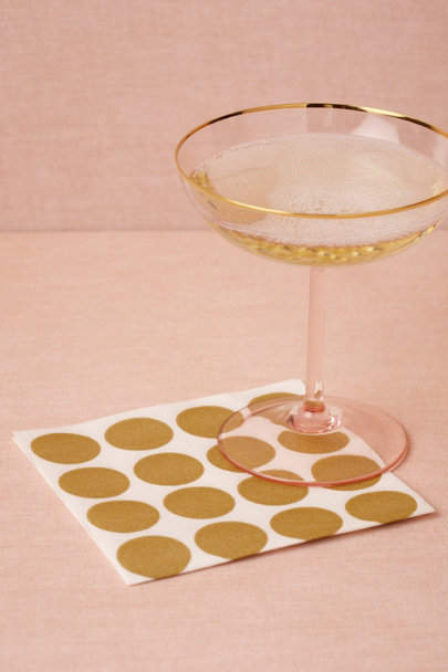 gold Circles-Meet-A-Square Napkins, Cocktail (20) | BHLDN