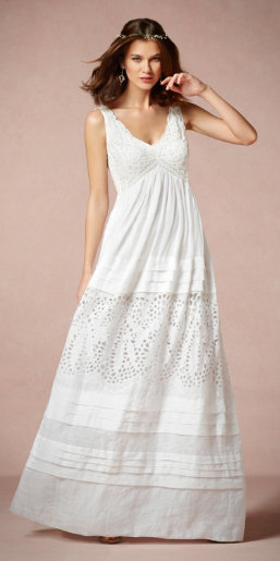 Lace and Ramie Gown
