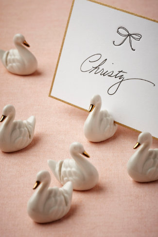 Swan Place Card Holders (6)