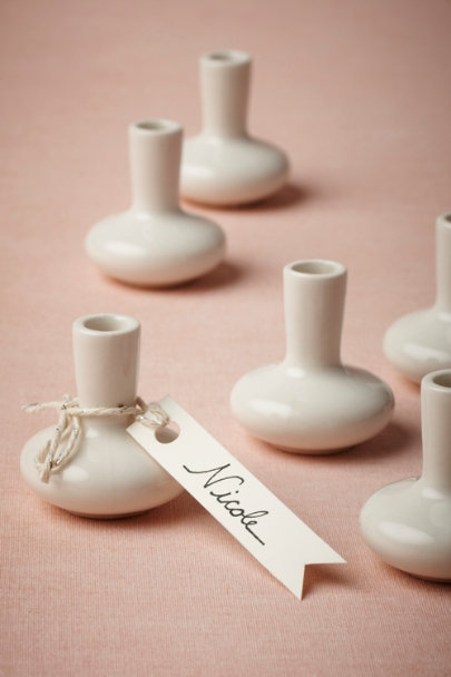 white Alabaster Bud Vases (6) | BHLDN