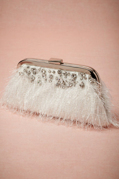 Radà white Chorus Line Clutch | BHLDN