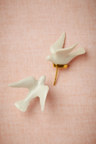 Andrés Gallardo white Dove Earrings | BHLDN
