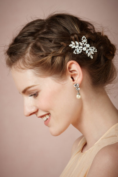 Jennifer Behr white opal Primrose Hairpin | BHLDN
