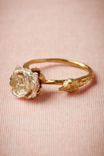 gold Silver Bud Ring | BHLDN