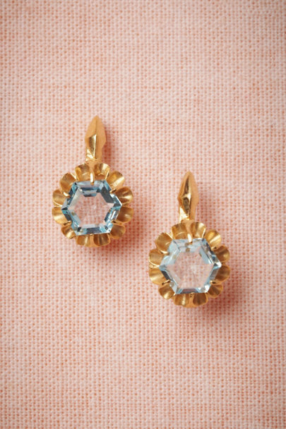 Cristina Zazo blue Invocation Earrings | BHLDN
