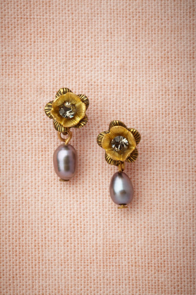 Eric et Lydie GREY Woodsorrel Earrings | BHLDN