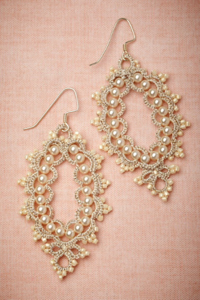 L'Orina ivory Prato Earrings | BHLDN