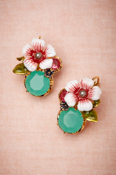 Les Néréides pink Kilauea Earrings | BHLDN