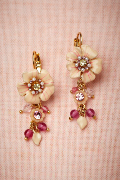 Les Néréides pink Azalea Earrings | BHLDN