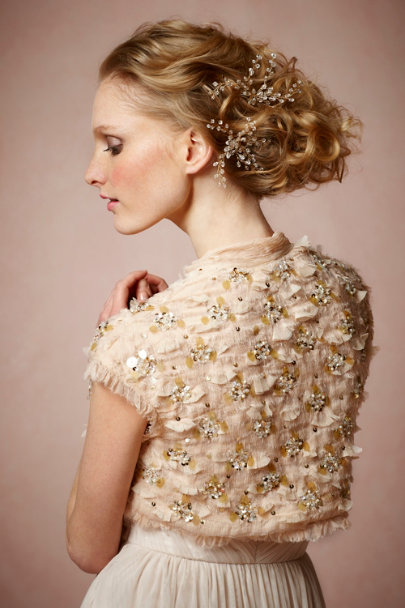 Rose Bejeweled Bolero | BHLDN