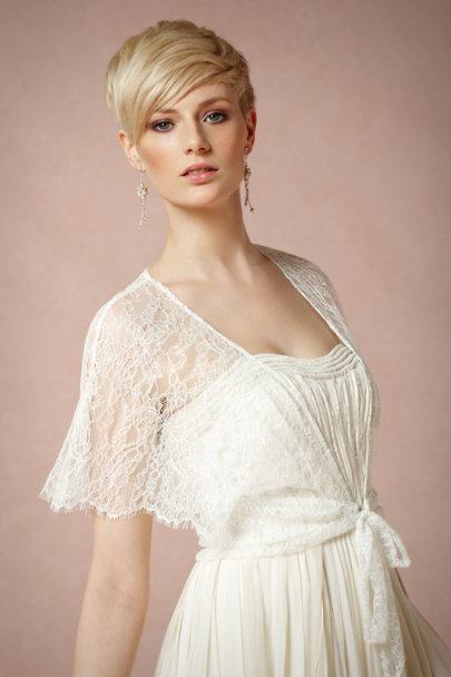 White Lace Aura Wrap | BHLDN