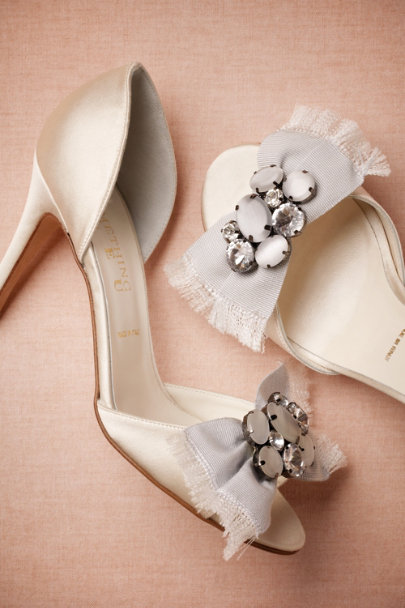 ivory Escutcheon d'Orsays | BHLDN