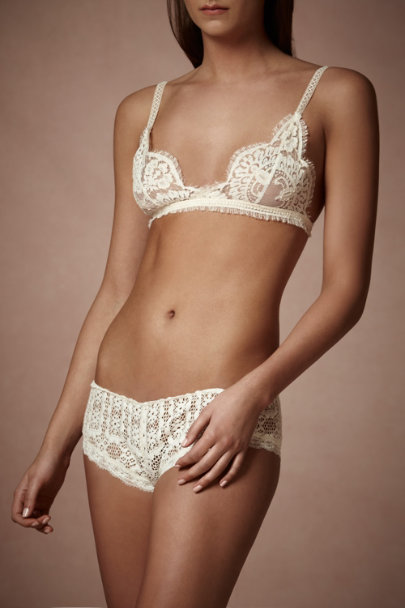 Ivory Lace Sampler Bralette | BHLDN