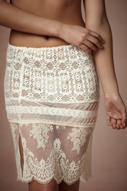 Elise Aucouturier Ivory Lace Sampler Skirt | BHLDN