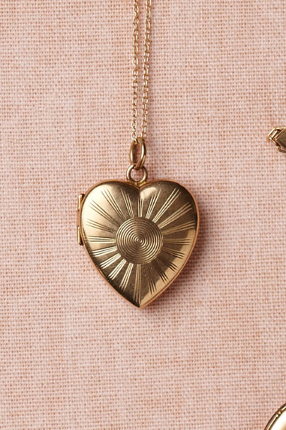 gold Resplendent Locket | BHLDN