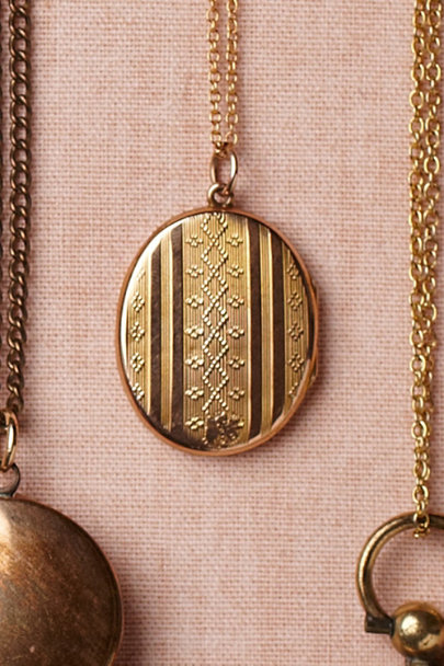 gold Delicate Motif Locket | BHLDN