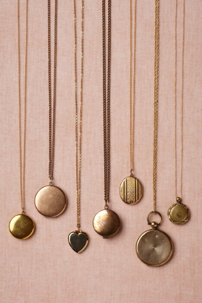 gold Scintilla Locket | BHLDN