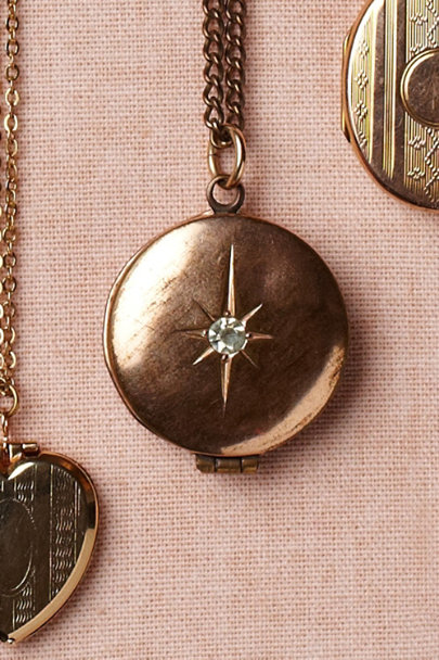 gold Polaris Locket | BHLDN