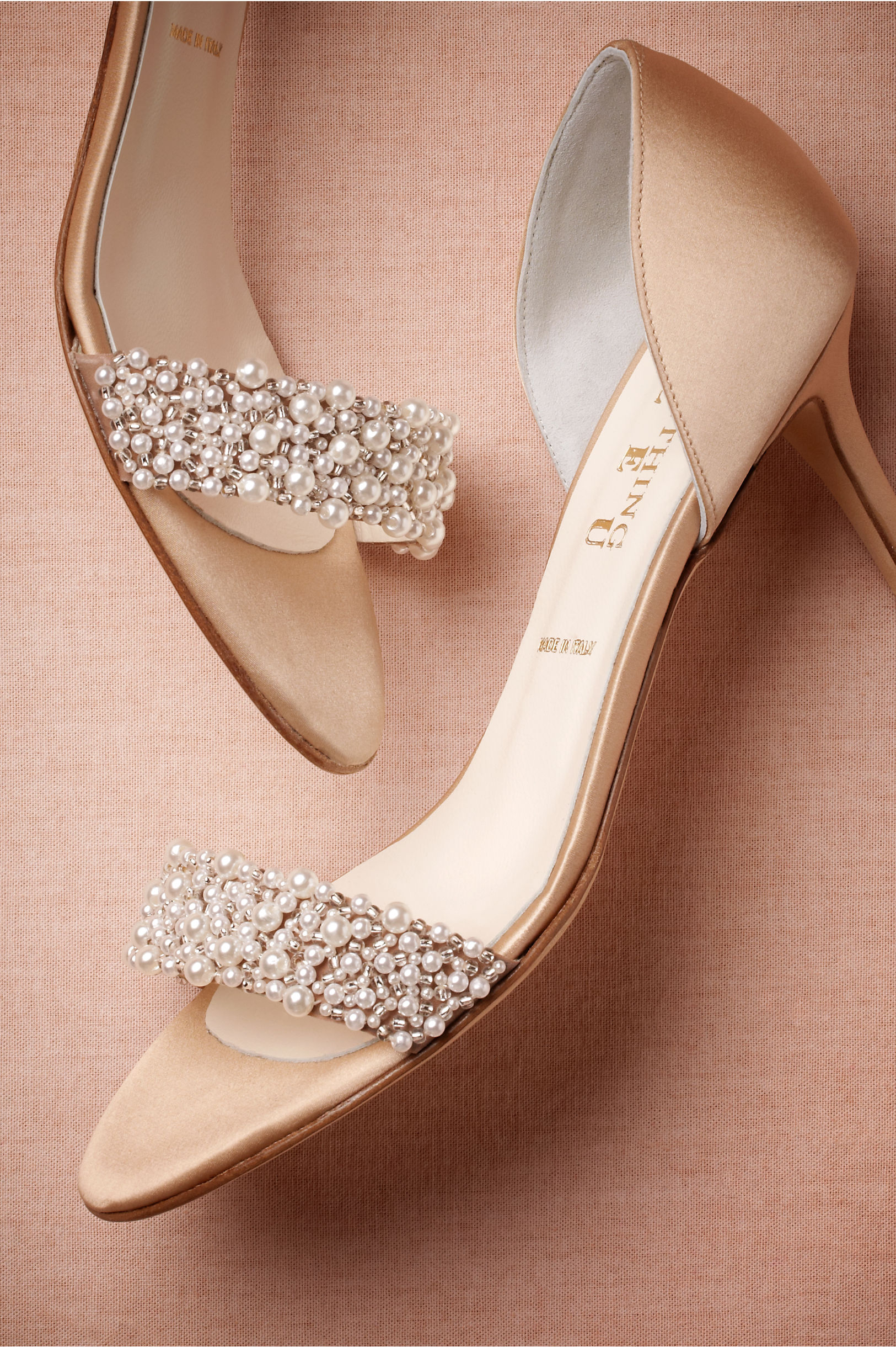 oyster bed dorsays blush wedding shoes Beige Oyster Bed Dorsays BHLDN
