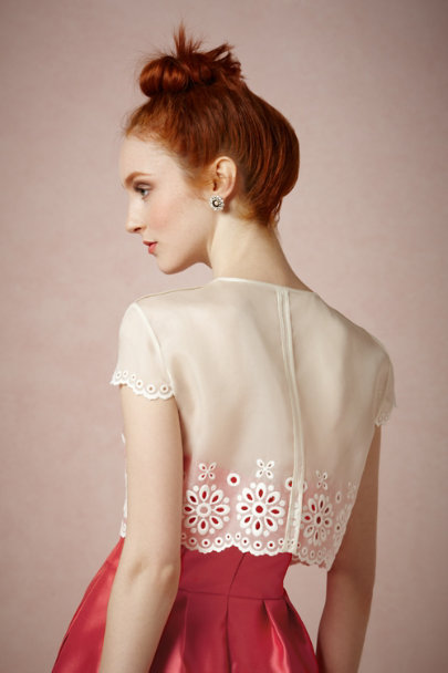 ivory Eyelet Swing Jacket | BHLDN