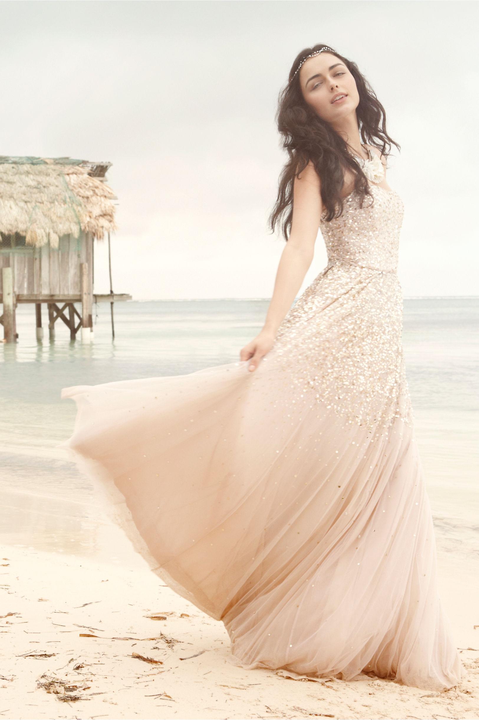 isadora gown tulle wedding dress Rachel Gilbert champagne Isadora Gown BHLDN