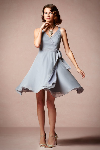 grey Wingspan Dress | BHLDN