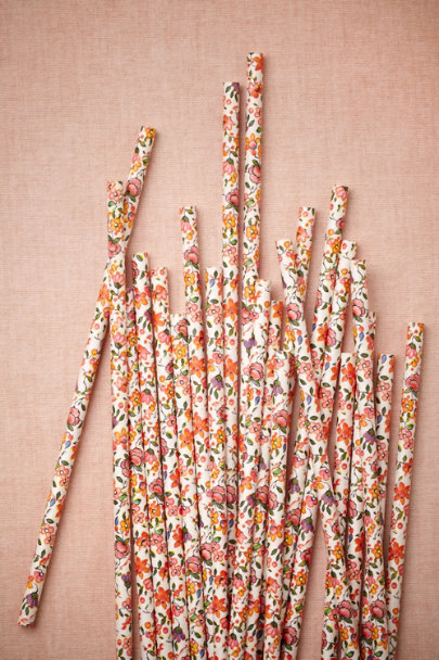 multi Blooming Shoppe Straws | BHLDN