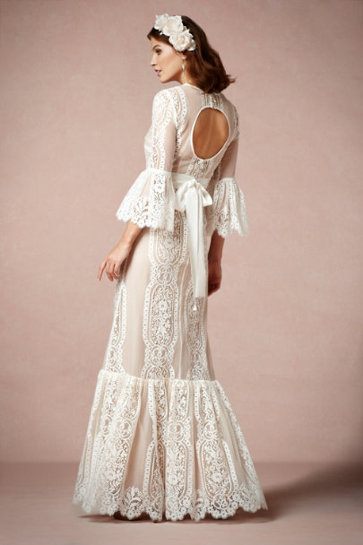 Tracy Reese ivory Arabella Gown | BHLDN