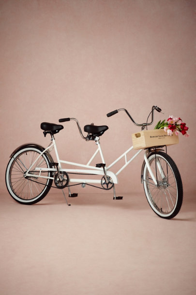 white Bowery Lane Tandem Bicycle | BHLDN